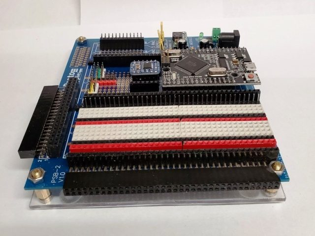 Mike H Mega Breadboard - Side View