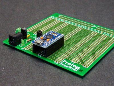 Pro Micro on MCU Proto Board with DC Input