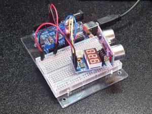 HC-SR04 Ultrasonic Distance Measurement Control Module - In Use with Uno