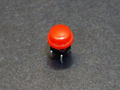 Tactile Pushbutton Square 6mm - with Red Cap