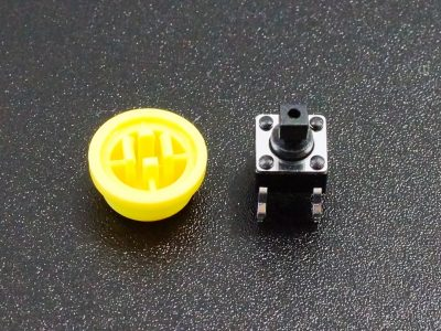 Tactile Pushbutton Yellow 6mm - Disassembled