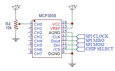 MCP3008 Example Schematic