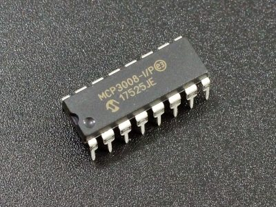 MCP3008-IP 8 Channel 10-bit ADC
