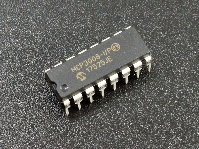 MCP3008-IP 8 Channel 10-bit ADC
