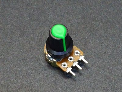Potentiometer Control Knob Green Plastic - On Potentometer