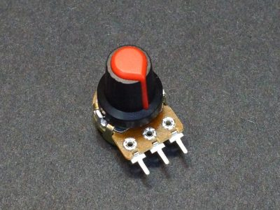 Potentiometer Control Knob Red Plastic - On Potentometer