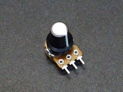Potentiometer Control Knob White Plastic - On Potentometer