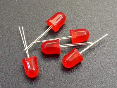 LED 10mm Red 5-Pack