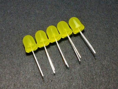 LED Yellow 10mm General Purpose - 5 Pack