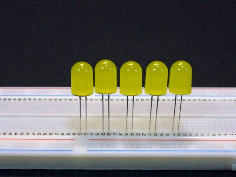 LED Yellow 10mm General Purpose - 5 Pack