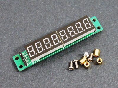 MAX7219 8-Digit 7-Seg Red Display Module Socketed