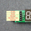 MAX7219 8-Digit 7-Seg Red Display Module Socketed - Input Connections