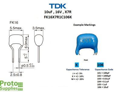 TDK MLCC 10uF 16V Details