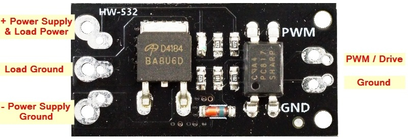 D4148 MOSFET Control Module - Connections