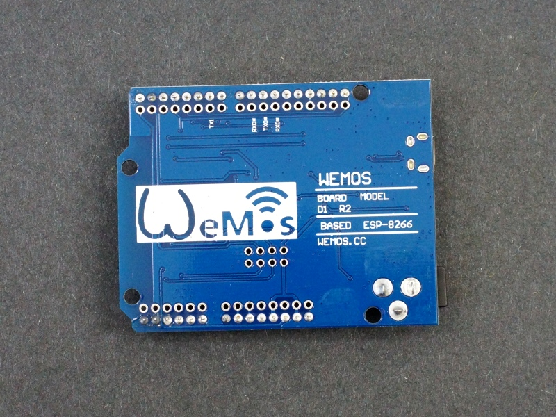 ESP8266 D1 R2 WiFi with Uno Footprint - Back