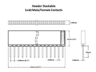 Header Stackable 1x40 Details