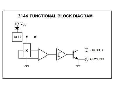 3144 Digital Hall Effect Sensor Block Diagram