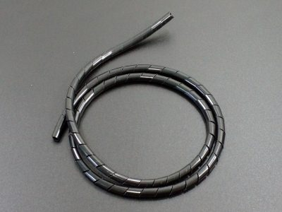 Spiral Cable Wrap Black Flat 8mm x 36 inch