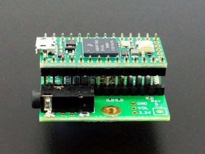 Teensy 4.x Audio Adapter - Side View with Double Insulator Headers