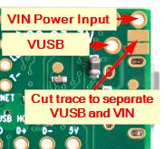 VIN VUSB Cut Trace Graphic