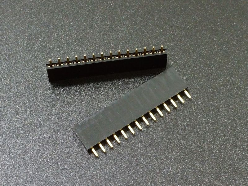 Header Female 1 x 14 Single-Row Gold 2-Pack