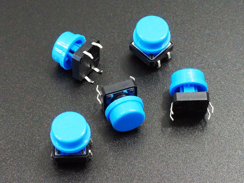 Tactile Pushbutton Blue 12mm - 5 Pack