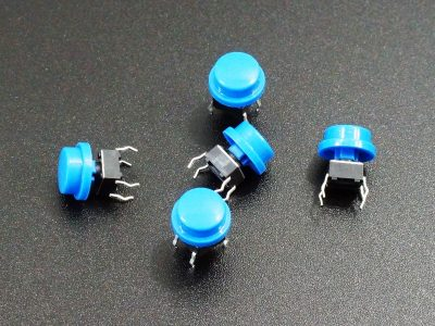 Tactile Pushbutton Blue 6mm - 5 Pack