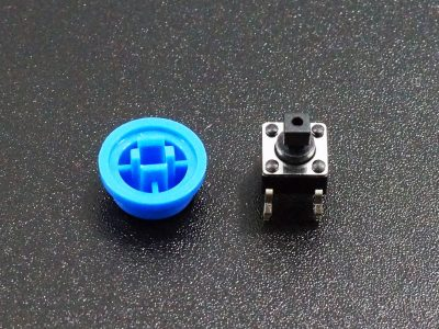 Tactile Pushbutton Blue 6mm - Disassembled
