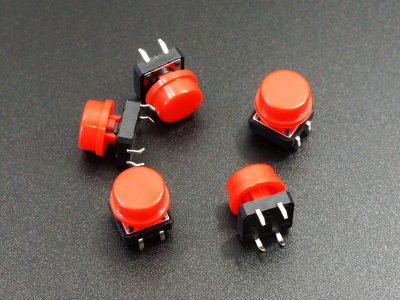 Tactile Pushbutton Red 12mm - 5 Pack