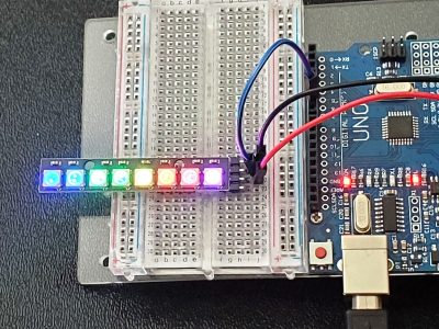 WS2812 RGB 8 LED Stick Module - In Operation