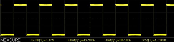 XY-LPWM Module 1kHz Scope Capture