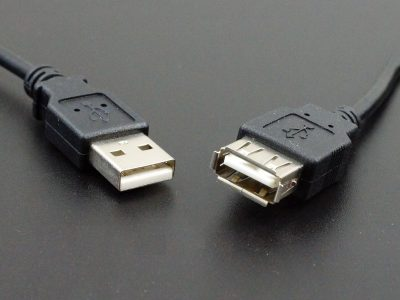USB 2.0 Extension Cable Black - Connectionst