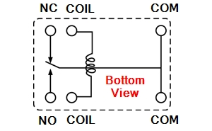 HRS1H-S-DC5V Relay Schematic