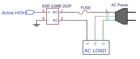 SSR G3MB-202P Example Schematic