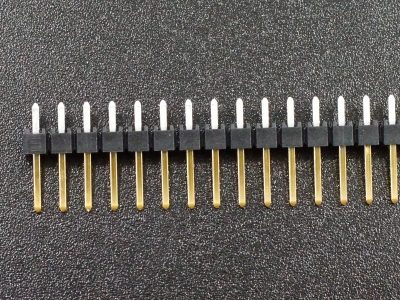 Header Male 1 x 50 Single-Row Selective Gold Plated - Closeup