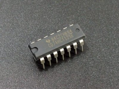 74HCT125 4-Channel Buffer with 3-State outputs