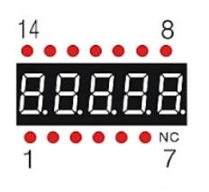 7-Segment 0.36 5-Digit Pins