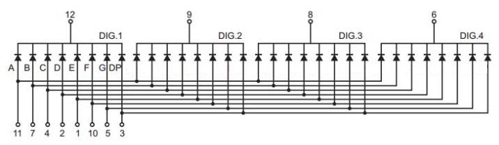 7-Segment 4-Digit Schematic