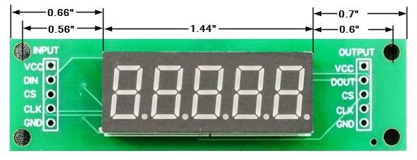 LED 7-Segment 0.36 x 5 Dimensions