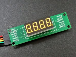 MAX7219 0.36 3-5 Digit 7-Segment Display Board - 4-Digit Yellow