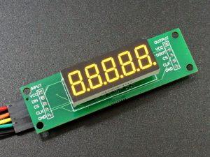 MAX7219 0.36 3-5 Digit 7-Segment Display Board - 5-Digit Yellow