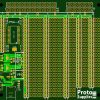 MCU Proto Board with 3.3 and 5V power - PCB Front