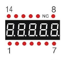 7-Segment 0.56 5-Digit Pins