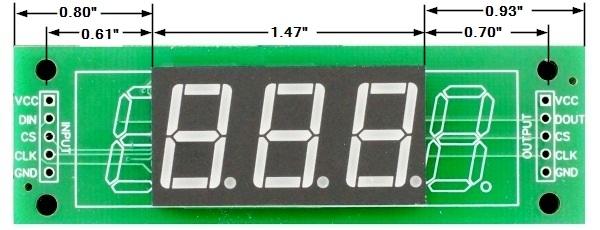 LED 7-Segment 0.56 x 3 Dimensions