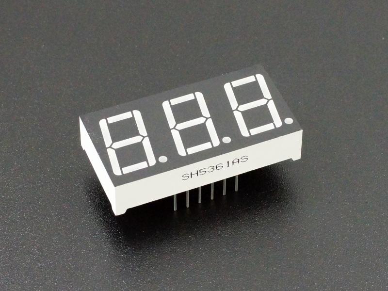 LED 7-Segment 0.56 x 3 -Digit