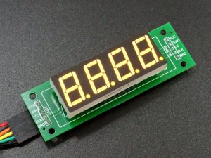 MAX7219 0.56 3-4 Digit 7-Segment Display Board - 4-Digit Yellow