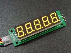 MAX7219 0.56 5 Digit 7-Segment Display Board - 5-Digit Yellow