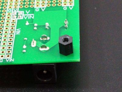 Nylon Black Hex Standoff F-F M3x6 on PCB